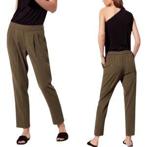 ARITZIA Babaton Cohen Trousers Olive Green Size 4